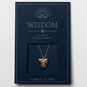WISDOM NECKLACE 14k gold